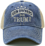 Gun Owners For Trump Trucker Navy Election 2020 Hat Baseball Cap