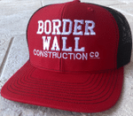 Border Wall Construction Co Red And Black Election 2020 Hat Baseball Cap