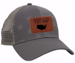 America For Trump Leather Patch  Election 2020 Hat Baseball Cap