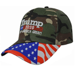 Trump 2020 Keep America Great US Flag Camo Election 2020 Hat Baseball Cap