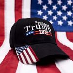 Trump 2020 USA Flag Black Election 2020 Hat Baseball Cap