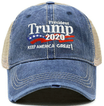 Trump 2020 Keep America Great Trucker Light Navy Election 2020 Hat Baseball Cap