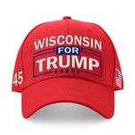 Wisconsin For Trump Red Election 2020 Hat Baseball Cap