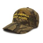 Yellow Letter Make America Great Again Camo  Election 2020 Hat Baseball Cap