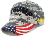 Trump Make America Great  Digital Camo Election 2020 Hat Baseball Cap