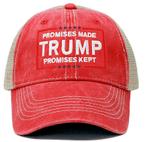 Promises Made Promises Kept Trump Red Election 2020 Hat Baseball Cap