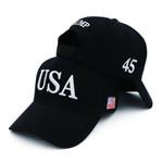 USA 45th President Black Election 2020 Hat Baseball Cap