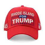 Rhode Island For Trump Red Election 2020 Hat Baseball Cap