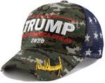 Keep America Great Trump Signature  Camo Election 2020 Hat Baseball Cap