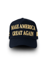 Official Make America Great Again 45th President Navy Gold Election 2020 Hat Baseball Cap