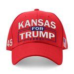 Kansas For Trump Red Election 2020 Hat Baseball Cap