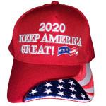 Trump Keep America Great Again Flag Red Election 2020 Hat Baseball Cap