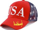 USA Trump Signature  Red Election 2020 Hat Baseball Cap