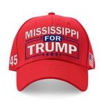 Mississippi For Trump Red Election 2020 Hat Baseball Cap