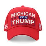 Michigan For Trump Red Election 2020 Hat Baseball Cap