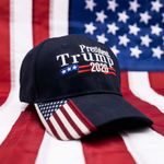 Trump 2020 USA Flag Hat Navy Election 2020 Hat Baseball Cap