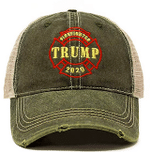 Firefighters For Trump  Army Green Election 2020 Hat Baseball Cap