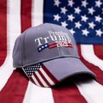 Trump 2020 USA Flag Charcoal Election 2020 Hat Baseball Cap