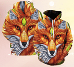 Fox And Leaf Magic Symbol 3D Hoodie