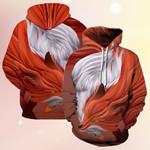 Fox And Swan Fashion 3D Hoodie