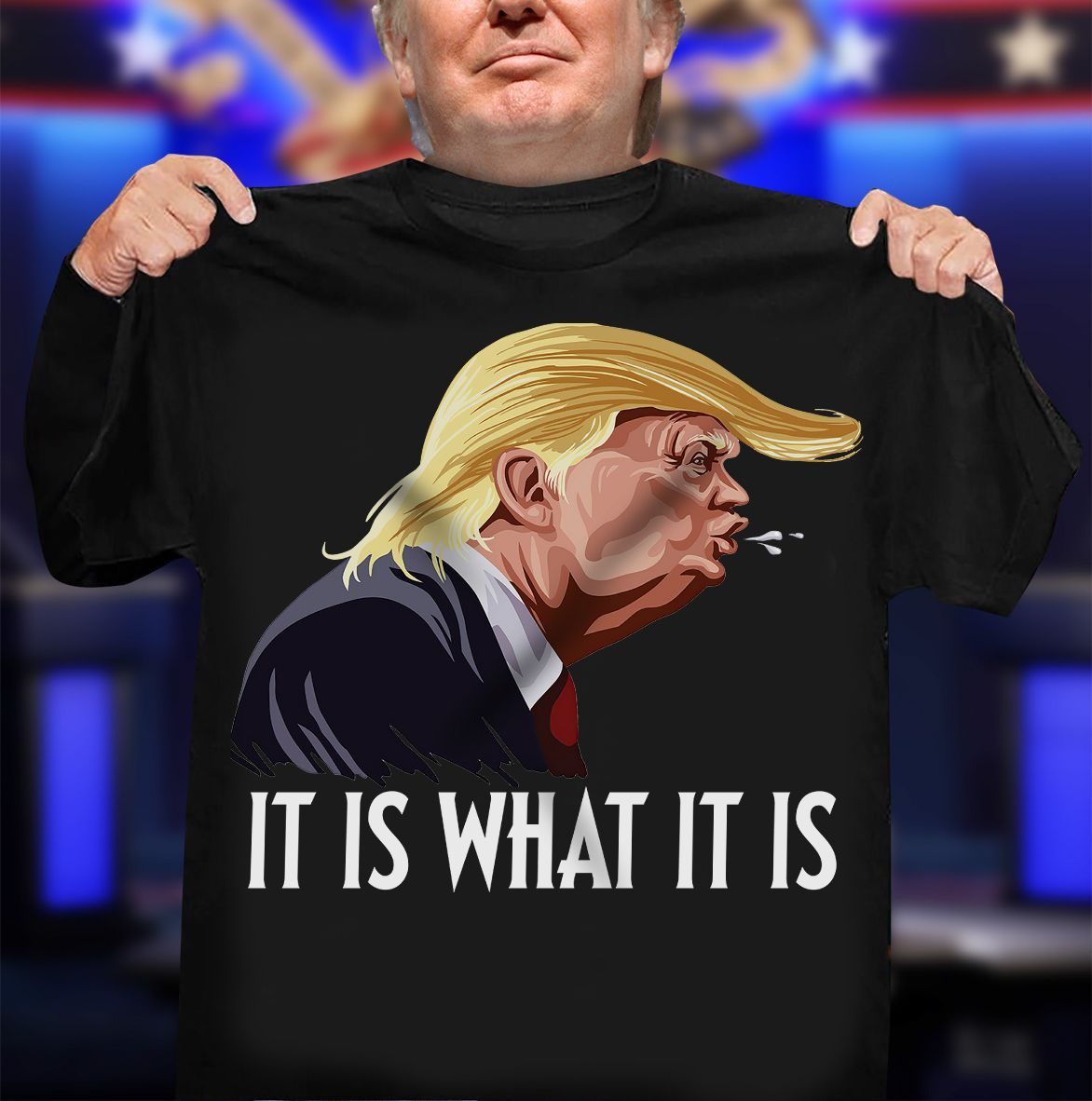 Donald Trump It Is What It Is Trump Tests Positive T-Shirt