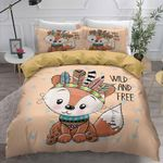 Wild And Free Cute Fox Bedding Set Bedroom Decor