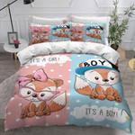 It's A Girl It's A Boy Fox Bedding Set Bedroom Decor