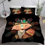 Cute Fox Native Style Bedding Set Bedroom Decor