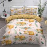 Cute Fox Sleeping Bedding Set Bedroom Decor