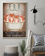 Fox Co Bath Soap Wash Your Paws Gift For Fox Lovers Vertical Poster