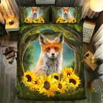 Fox Andunflower Sunflower Bedding Set Bedroom Decor