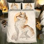 White Fox Art Bedding Set Bedroom Decor