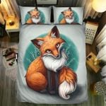 Cute Fox Coloring Bedding Set Bedroom Decor