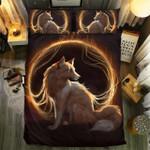 Fox Fire Ring Bedding Set Bedroom Decor