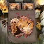 Fox Lying With Flower Unique Painting Bedding Set Bedroom Decor