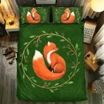 Fox With Leaf Ring Unique Painting Bedding Set Bedroom Decor
