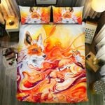 Red Fox Watercolor Paintings Bedding Set Bedroom Decor