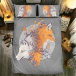 Red Fox And White Fox Bedding Set Bedroom Decor