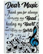 Thank You For Always Lifting My Spirits Gifts For Music Lovers Vertical Poster