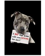 I Sit For You Will You Stand For Me Cute Gifts Vertical Poster