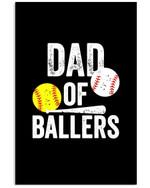 Dad Of Ballers Custom Design For Sport Lovers Vertical Poster