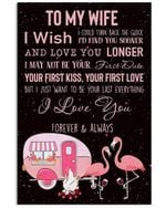 Lovely Message From Husband Gifts For Wife Who Loves Camping Vertical Poster