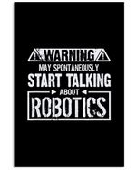 May Spontaneously Start Talking About Robotics Trending Vertical Poster