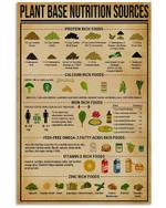 Registered Dietitian Plant Based Nutrition Sources Custom Design Gifts Vertical Poster