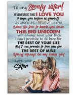 You'll Always Be My Baby Girl Gifts For Sisters Vertical Poster