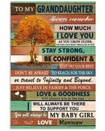 Always Remember How Much I Love You Quote Gift For Granddaughter From Mawmaw Vertical Poster