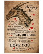 Mum To Son I Love You For The Rest Of My Life Vertical Poster