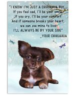 Chihuahua I'll Always Be Your Side Meaning Gifts For Animal Lovers Vertical Poster