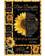 I Love You Sunflower Love Gifts Dear Daughter For Family Vertical Poster