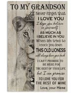 Never Forget That I Love You Gift For Grandson From Meme Vertical Poster
